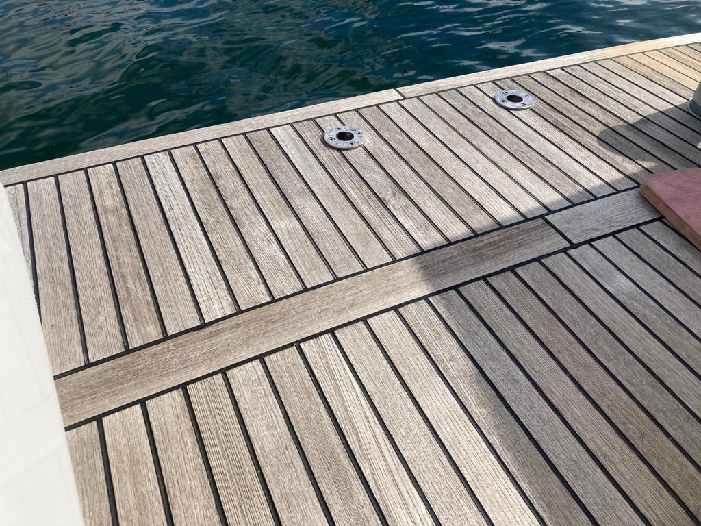 Teak deck renovation Before