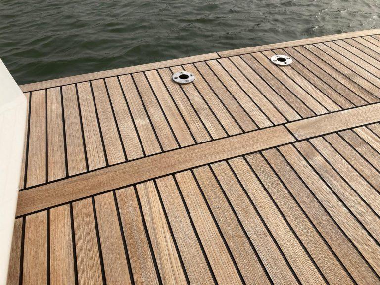 Teak deck renovation After