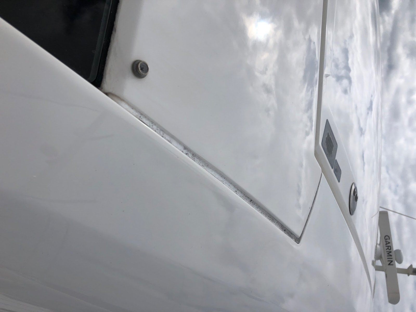 Marine Sealant Replacement Before | Yacht Care Services